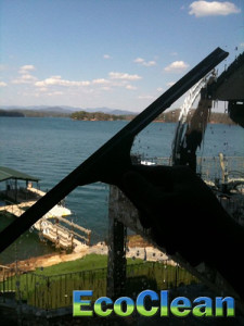 Cleaning Windows on Lake Keowee